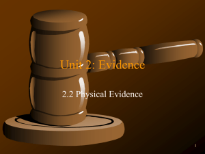 2.2 Direct Evidence Notes