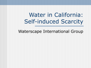 Lecture: Water in California - Waterscape International Group