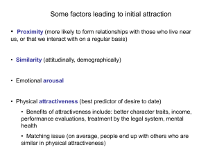 Interpersonal Attraction Slides