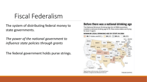 PPT: Fiscal Federalism
