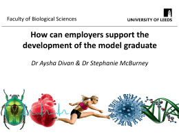How can employers support the development of the model graduate