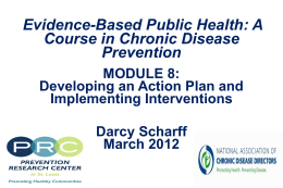 Module #8: Developing an Action Plan and Implementing Interventions