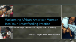 PayneWelcoming African-American Women into Your Breastfeeding