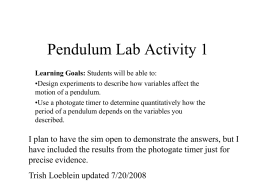 1 Clicker questions pendulum lab