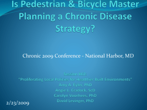 Is Pedestrian & Bicycle Master Planning a Chronic Disease
