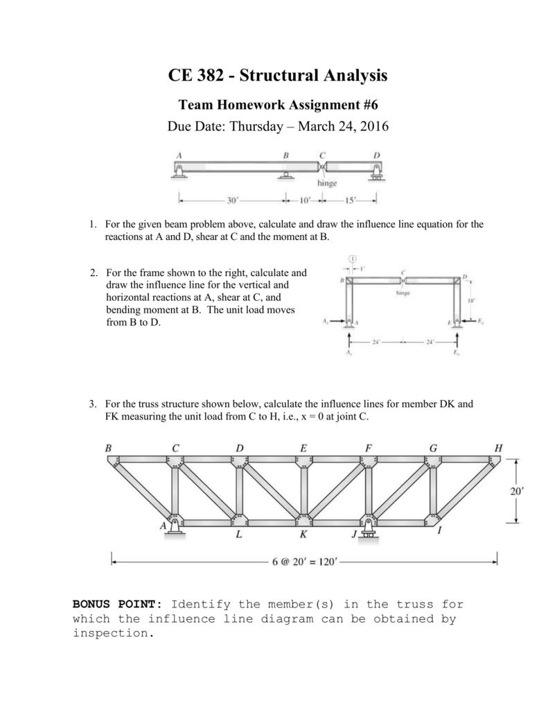 Ce 382 Structural Mechanics