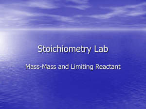 Stoichiometry Lab