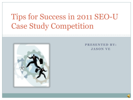 SEO-U_Case_Study_June2011