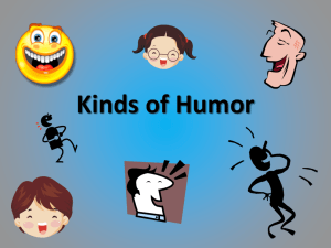 Kinds of Humor Vocabulary Notebook