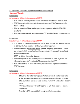 STV and FPTP essay plan