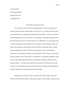 Food taboo research paper