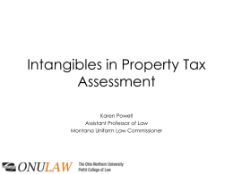 intangible personal property - Montana Taxpayers Association