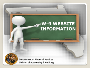 Substitute Form W-9 - Department of Management Services