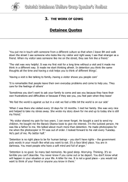 Detainee Quotes (Word Document)