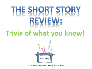 Elements of a Short Story Review