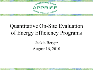 Quantitative On-Site Evaluation of Energy Efficiency