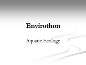 Envirothon: Aquatic Ecology