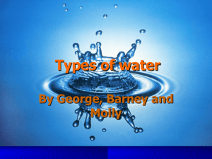 Types of water - dalriadayear7