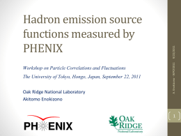 Hadron emission source functions measured by PHENIX