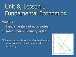 Fundamental Economics