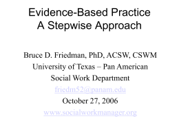 Evidence-Based Practice A Stepwise Approach