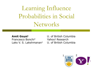 Presentation - University of British Columbia