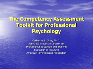 The Competency Assessment Toolkit for Professional