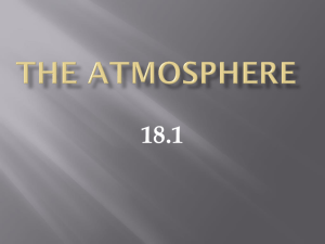 Chapter 18 The Atmosphere