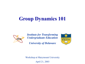Group Dynamics 101 - University of Delaware