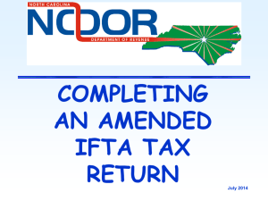 completed Amended IFTA Tax Return