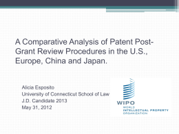 A Comparative Analysis of Patent Post-Grant Review