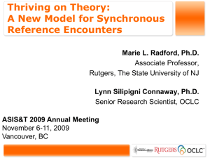 Thriving on Theory: A New Model for Synchronous Reference