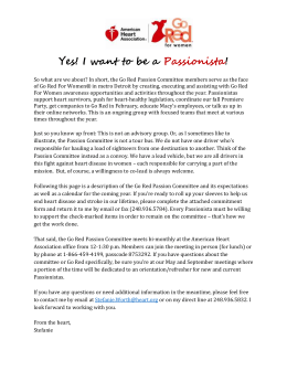 2015-16 Go Red Passion Committee Commitment Form