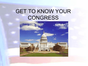 GET TO KNOW YOUR CONGRESS