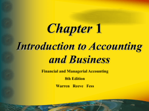 Introduction to Managerial Accounting & Job Order Cost Systems
