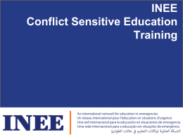 INEE CSE Training PowerPoint - Save the Children's Resource Centre