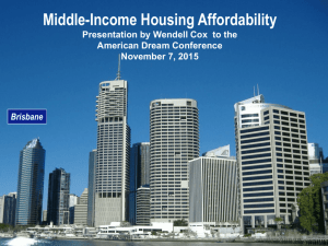 Wendell Cox on Housing Affordability