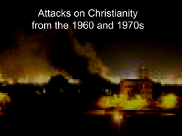 Attack on Christianity from the 60s and 70s