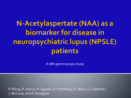 N-Acetylaspertate (NAA) a biomarker for disease in NPSLE patients