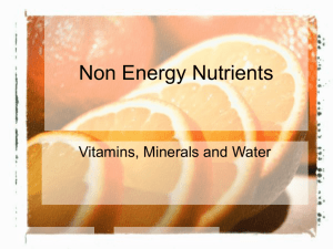 Non Energy Nutrients