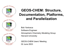 GEOS-Chem for Beginners - Atmospheric Chemistry Modeling Group