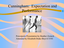 Expectation and Performance