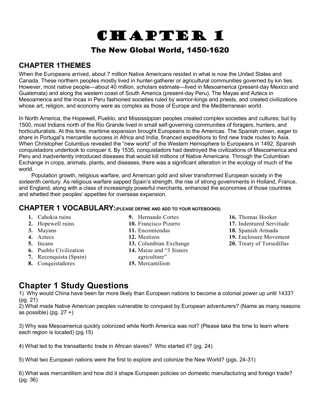 Chapters 5-8 Chapter Outlines - Mr  Bello's Social Studies