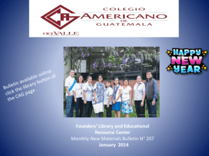 Slide 1 - American School of Guatemala