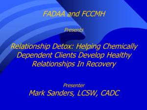 Helping Chemically Dependent Clients Develop Healthy
