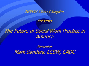 NASW Ohio Chapter Presents The Future of Social Work Practice in