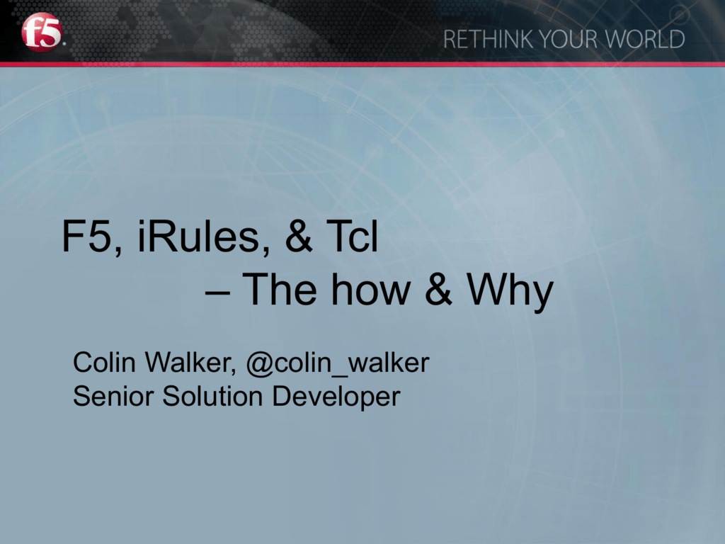 Colin Walker - Tcl Community Association