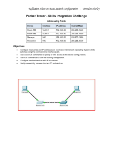 Packet Tracer - Skills Integration Challenge