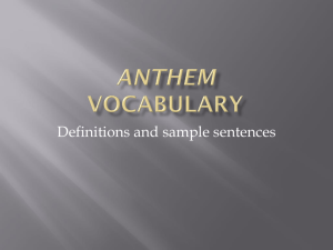 Anthem Vocabulary (12