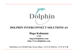 DOLPHIN INTERCONNECT SOLUTIONS, INC.